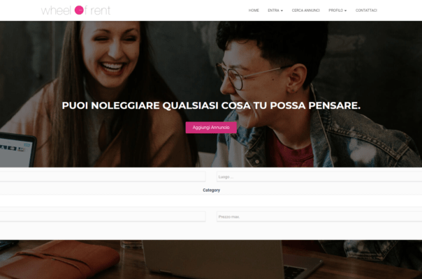 Wheel of rent Portfolio Sviluppatore web Wordpress Bari
